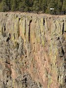 Rock Climbing Photo: Cwm Laude Wall, arrow marks a landmark, the 'Truff...