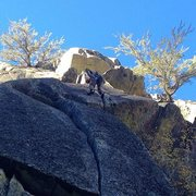 Rock Climbing Photo: Just passed the crux roof and back into splittersv...