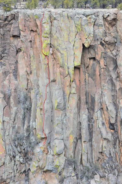 Rock Climbing Photo: Lost Highway topo.  And good perspective of surrou...