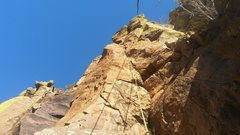 Rock Climbing Photo: The top half of the route, including the gorgeous ...