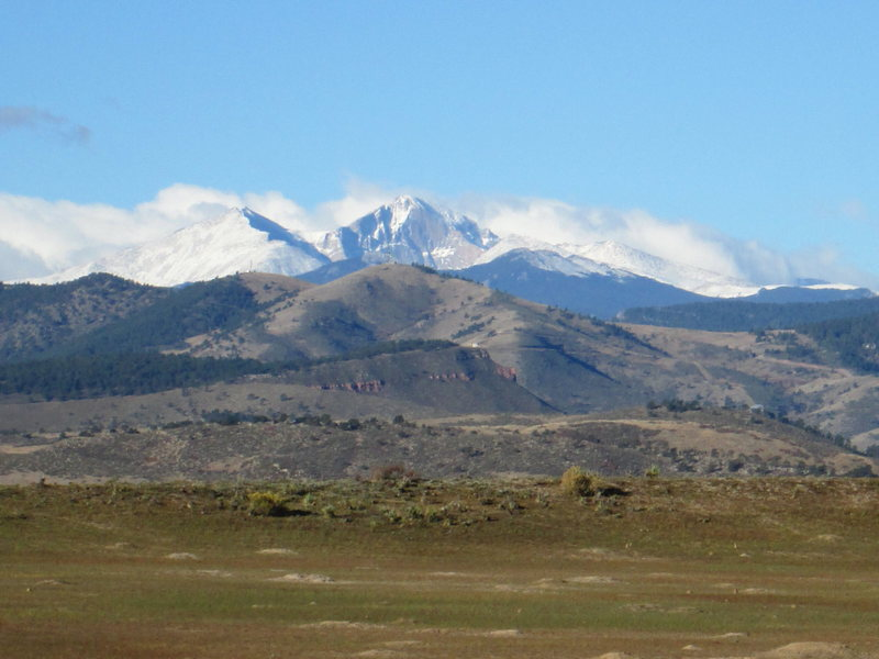 Long's Peak from Loveland in October.