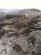 Rock Climbing Photo: The rock gets better but less juggy the higher you...