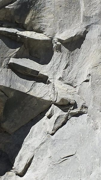 Rock Climbing Photo: Rope from the base of alcove.