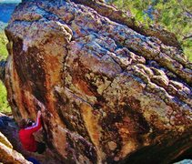 Rock Climbing Photo: Working the early heel hook on Vampirical Evidence...