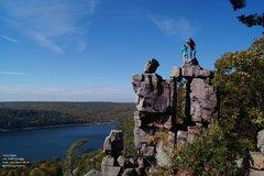 Rock Climbing Photo: High five