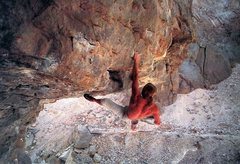 Rock Climbing Photo: John Bachar defying gravity on Enterprise (5.12b),...