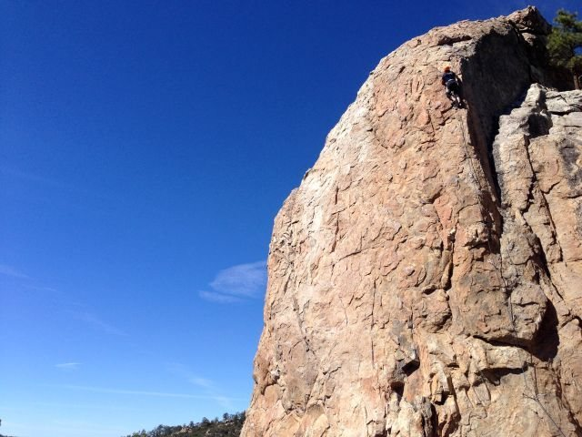 Bye Crackie (5.7), Holcomb Valley Pinnacles