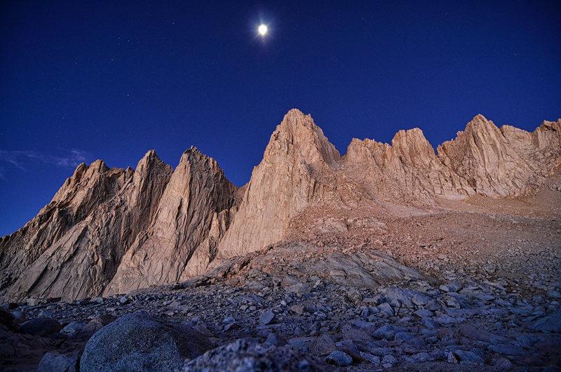 Rock Climbing Photo: Early rays of light on Whitney