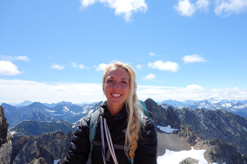 Atop South Early Winter's Spire in the North Cascades