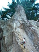 Rock Climbing Photo: Terror Incognito- 5.10b, Froggatt's Edge, Wharepap...