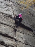 Rock Climbing Photo: Great layback moves on this one