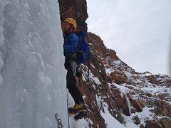 Rock Climbing Photo: Ben on lead.