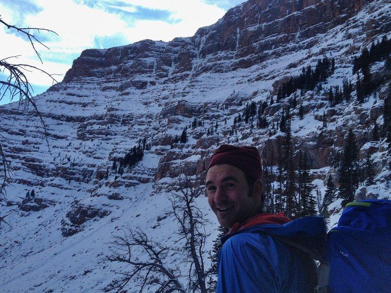 Rock Climbing Photo: Ben scoping the goods.