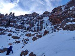 Rock Climbing Photo: Ben nearing the base.