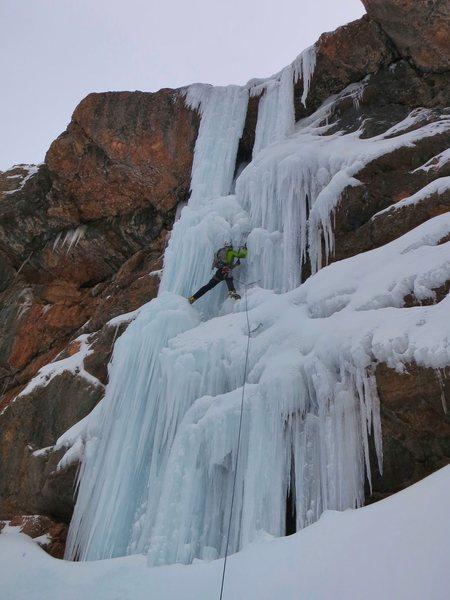 Rock Climbing Photo: Me on pillar.