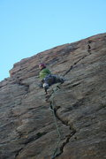Rock Climbing Photo: das craigers in the mouth of the green monster!