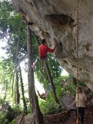 Rock Climbing Photo: Equipping a pretty one