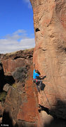 Rock Climbing Photo: Ed Strang warms up on the techy  Crystal Clear Ar�...