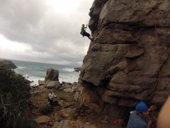 Rock Climbing Photo: Making new climbing friends at Long Dong Taiwan af...