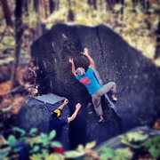 Rock Climbing Photo: Some fall action on L'angle