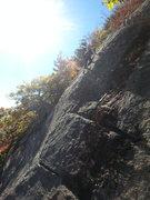 Rock Climbing Photo: Jennifer near the top.