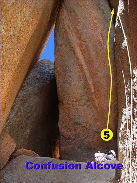 Rock Climbing Photo: This is a view inside of the Confusion Alcove ('C'...