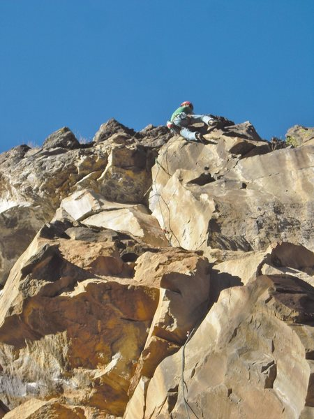 Rock Climbing Photo: Final steep crux