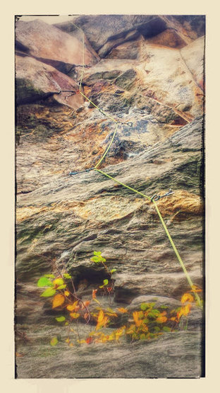 Rock Climbing Photo: Millennium Falcon line - Awesome route!