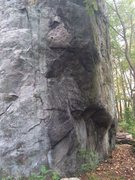 Rock Climbing Photo: Glacial Erratic - One of the sides of the giant bo...