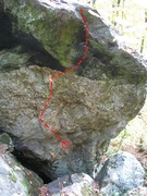 Rock Climbing Photo: The Internal Flame - in back of the Orange Arete b...