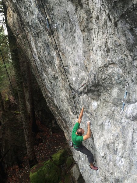 Rock Climbing Photo: Erich at the rest of Webelos