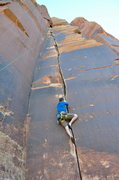 Rock Climbing Photo: Following another splitter  crack