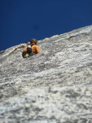 Rock Climbing Photo: Lost in the Sea of Slab on Snake Dike..John Dull