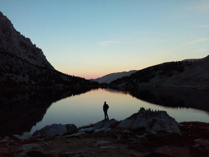 Rock Climbing Photo: Ruby Lake at sunset. Photo by Johnny K