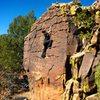 Wonderful patina block in Mills Canyon, Roy, NM.