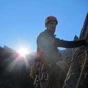 Rock Climbing Photo: David on pitch 3 of the East Buttress of Middle Ca...