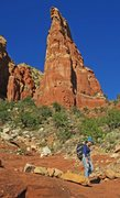 Rock Climbing Photo: The aesthetic side of the Big Country Spire. Taken...