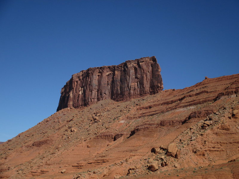 The Convent mesa, as seen from the SW.