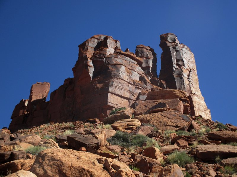 Rock Climbing Photo: The Sisters Group as seen from the final bit of th...