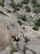 Rock Climbing Photo: My wife enjoying Sun Dancer.