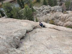 Rock Climbing Photo: My wife at the belay of pitch 2.