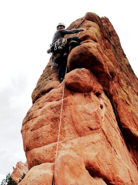 Rock Climbing Photo: Having fun on Montezuma Tower.