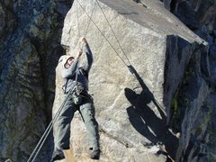 Rock Climbing Photo: Having fun on Sun Ribbon Arete