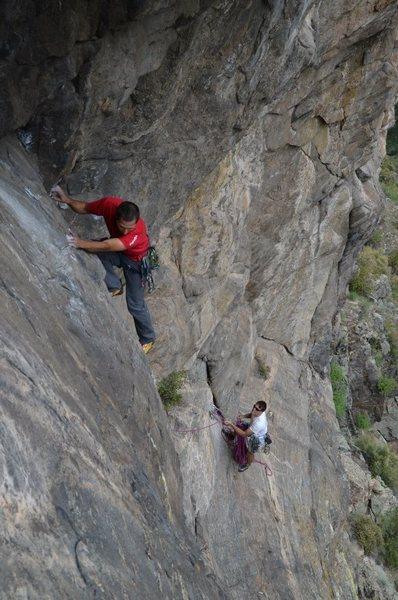 Rock Climbing Photo: Jason on P3.