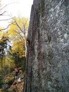 Rock Climbing Photo: Looking at the climb from the rise just left of th...
