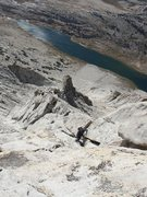 Rock Climbing Photo: Keith having fun high on Mount Conness