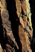 Rock Climbing Photo: morning FA of Bertilak. Into the goods. Photo: Wad...