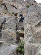 Rock Climbing Photo: Having fun on the second pitch of the Standard Rou...
