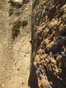 Rock Climbing Photo: amazing bellybutton E3 trad crack