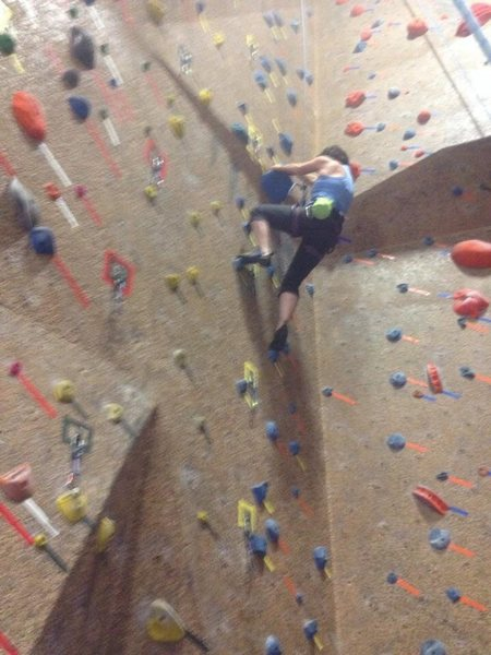 Rock Climbing Photo: In the gym
